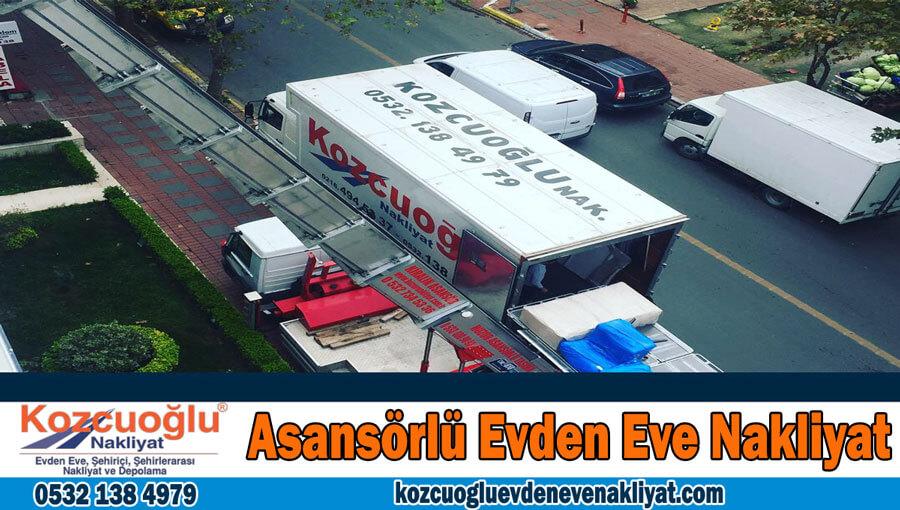Asansörlü evden eve nakliyat İstanbul Asansörlü Nakliyat taşıma