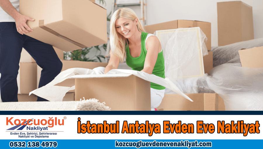 İstanbul Antalya evden eve nakliyat Antalya İstanbul evden eve nakliye şirketi
