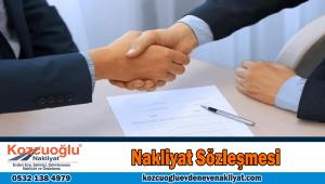 evden eve nakliyat sözleşmesi İstanbul nakliyat sözleşmesi