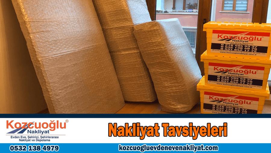 Tavsiye Nakliyat tavsiyeleri İstanbul ev taşıma tavsiyeleri nakliye önerileri