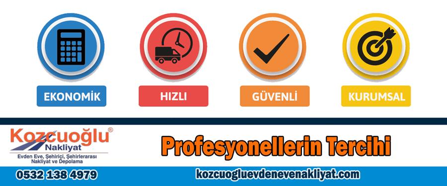 Profesyonelleri tercihi Kozcuoğlu nakliyat ekonomik hızlı güvenli kurumsal taşıma