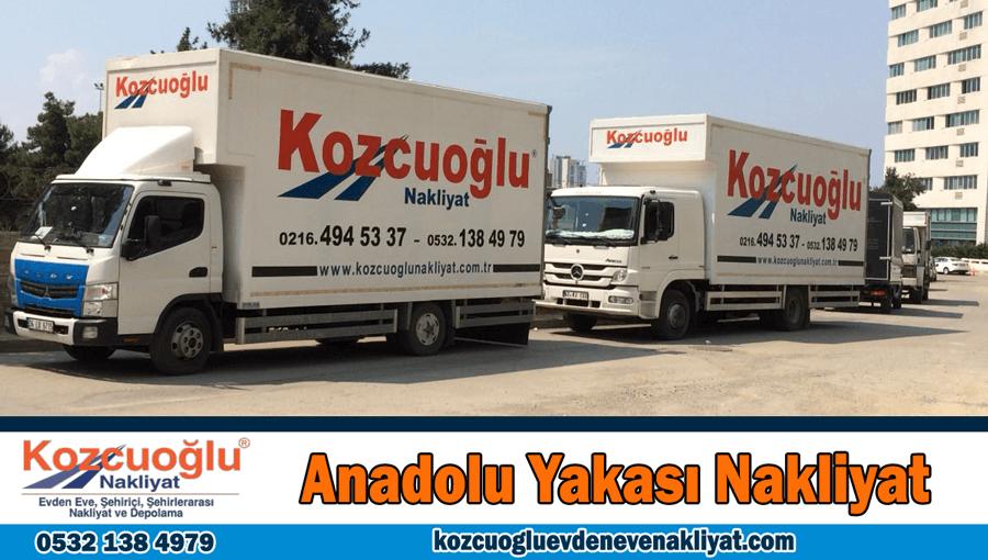 Anadolu yakası evden eve nakliyat İstanbul Anadolu yakası nakliyat firması