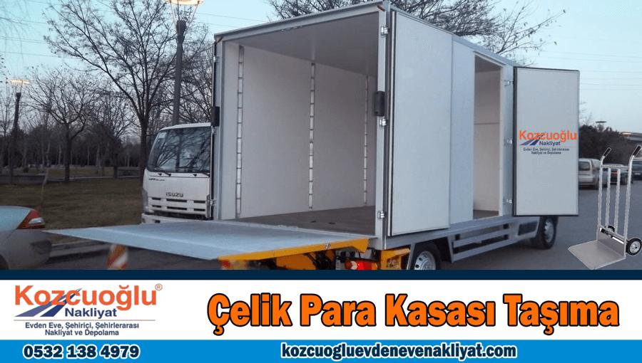 Çelk para kasası taşıma İstanbul para kasası nakliye aracı kamyonu