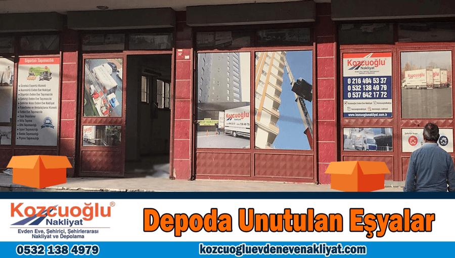 Depoda unutulan eşyalar İstanbul nakliyat depolama unutulan temiz ikinci el eşya