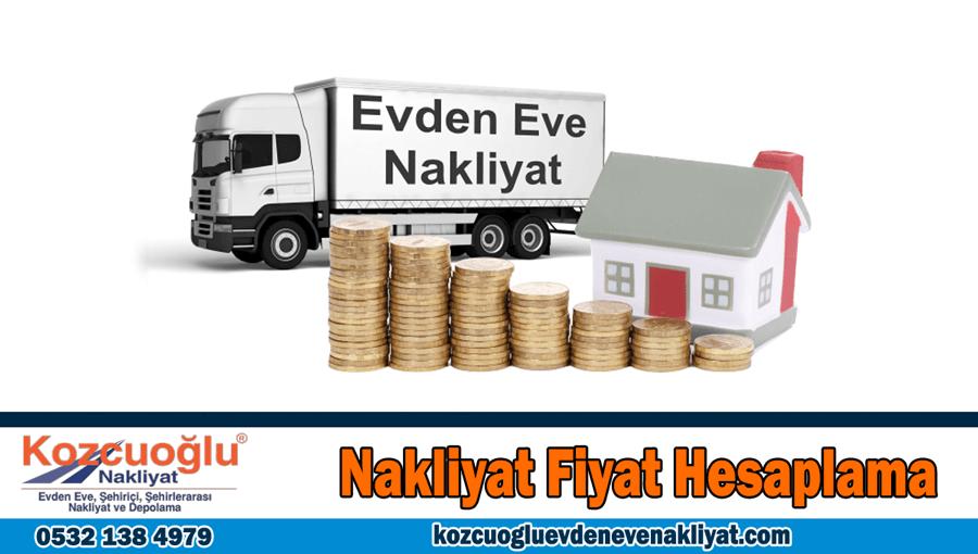 Nakliyat fiyat hesaplama İstanbul evden eve nakliyat fiyatları hesapla
