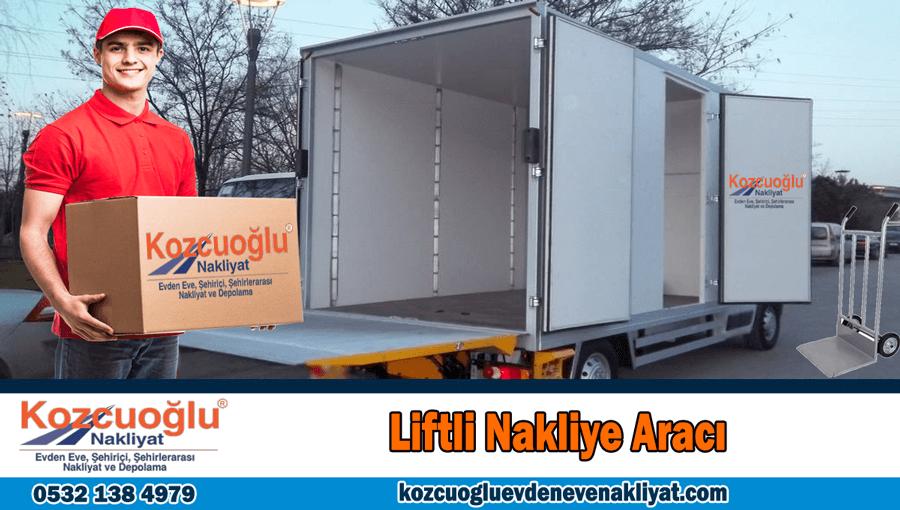 Liftli nakliye aracı İstanbul liftli kamyon liftli kamyonet aracı kiralama